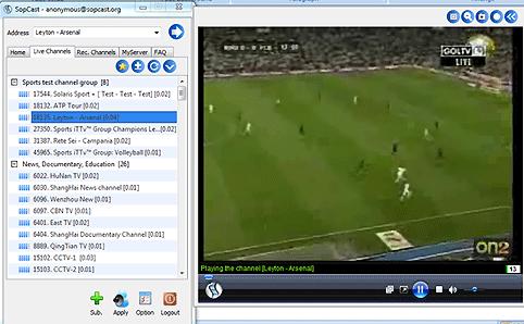 برنامج SopCast 3.5.0 لمشاهدة القنوات