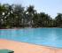 Outdoor swimming pool at Speke Resort in Munyonyo, Uganda