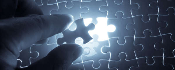 Inserting a puzzle piece