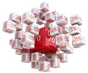 Percent cubes, 3D image