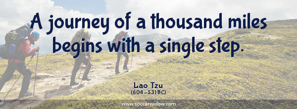 Discipline quote: A journey of a thousand miles begins with a single step - Lao Tzu