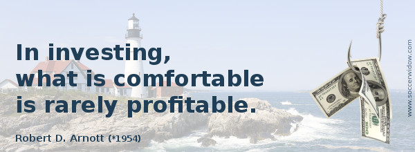 Investment Quote: In investing, what is comfortable is rarely profitable - Robert D. Arnott