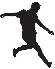 Fußballspieler Silhouette