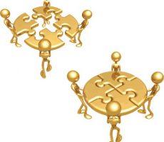 Golden Puzzle Concept / Goldenes Puzzle