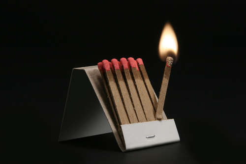 Close-up of Matches / Nahaufnahme Streichhölzer
