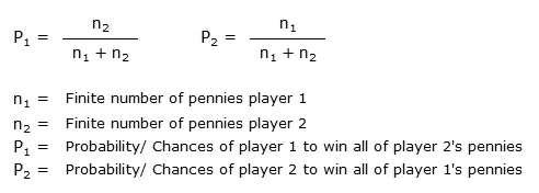 Formula Gamblers Ruin
