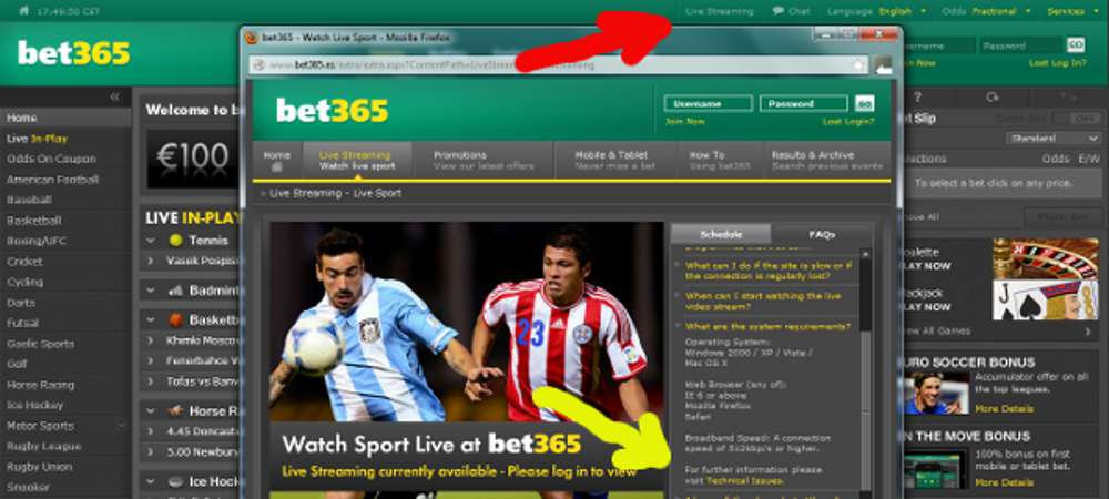 Betting websites stream live aiding and abetting breach of contract
