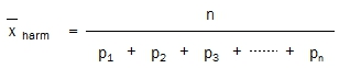 Harmonic Mean equation with probabilities