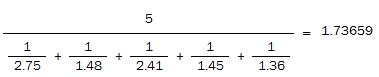 harmonic mean - example 1