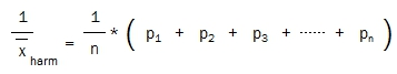 harmonic mean reciprocals of probabilities
