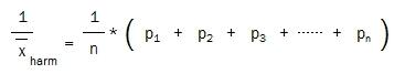 harmonic mean reciprocals of probabilities