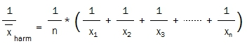 harmonic mean resiprocals