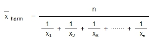 Harmonic Mean equation
