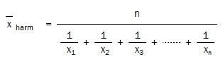 Harmonic Mean equation