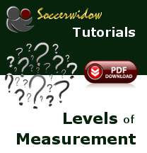 Correct Assignment of Football Data to Levels of Measurement