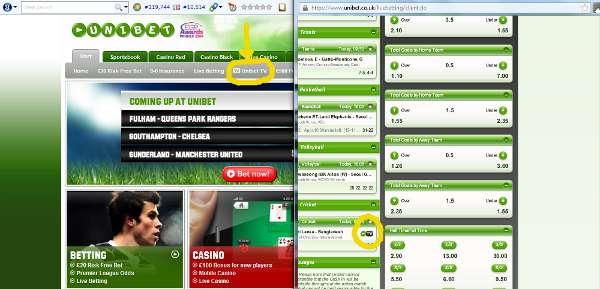 Unibet Live Streaming Service
