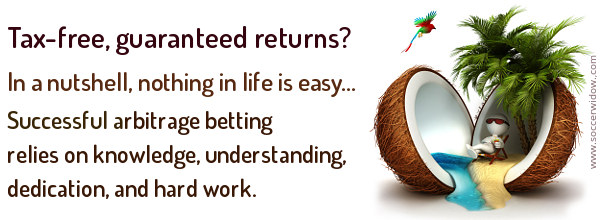 Illustration - successful arbitrage betting