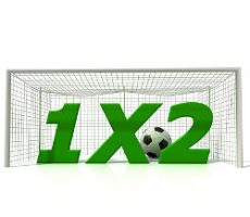 Conceptual image of 1x2 football betting / Konzeptionelles Bild 1x2 Fußball-Wetten