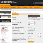 Oddsportal Settings Screenshot