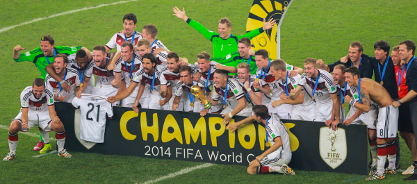 Germany Celebrate Winning FIFA World Cup 2014